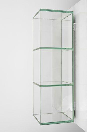 Nicho Cube WE  Espelharia, Espelhos e Moveis em Vidro  Salvador -> Nicho Banheiro Prateleira Vidro